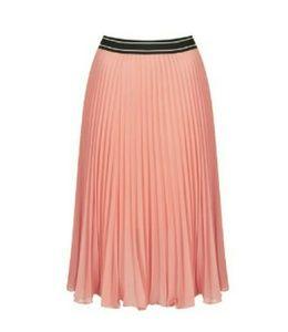 Top Shop Pleated Midi Skirt Peach/Rose
